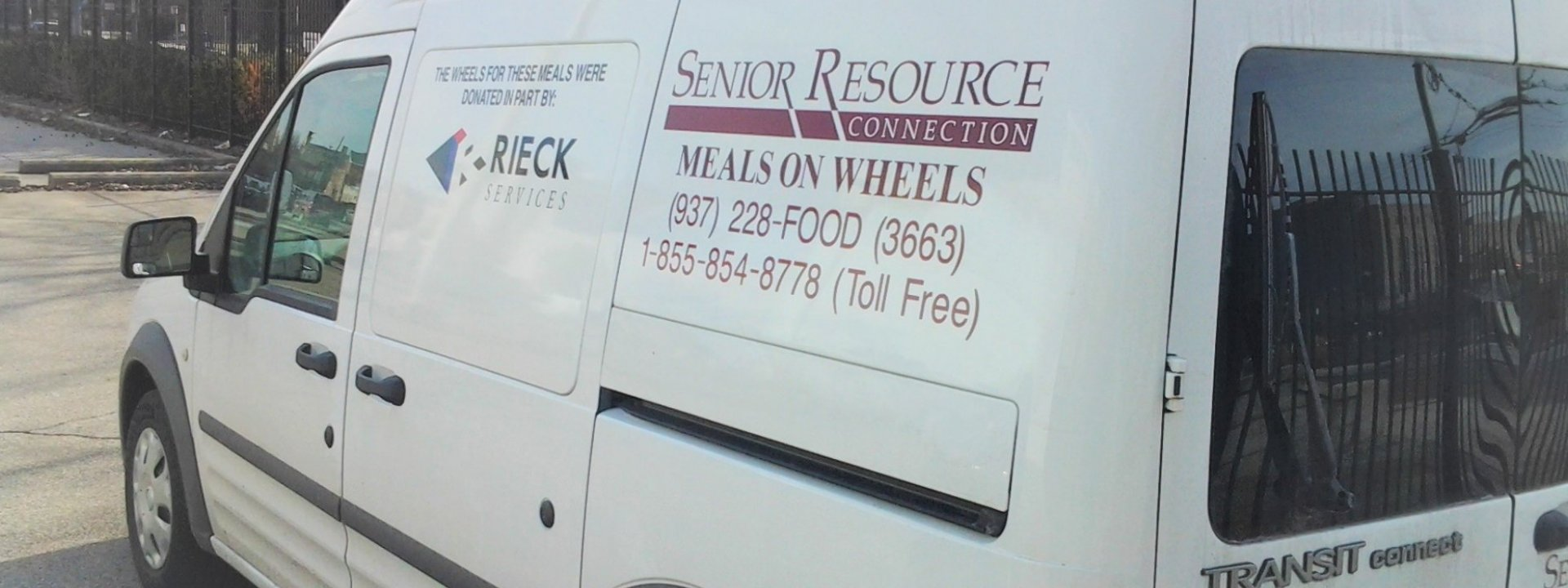 White van with logo