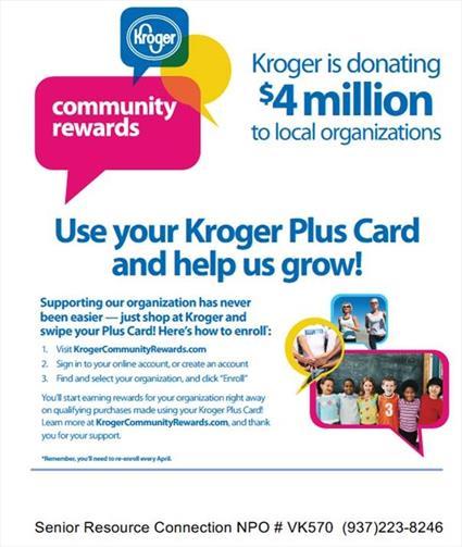 Kroger Rewards sheet