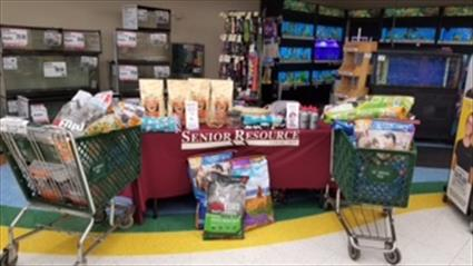 Pet food drive donations