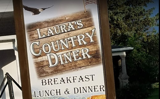 Laura's Country Diner sign