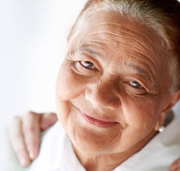 Older woman smiling